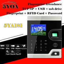 TCP IP Biometric Fingerprint Time Attendance Clock Recorder Employee Digital Electronic English Reader Machine USB RFID ID Card(China)