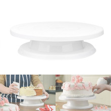 Cake Decorating Turntable Rotating Revolving Icing Kitchen Display Stand 28cm cake swivel plate Stand Christmas Baking Tool HOT