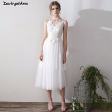 Buy 2018 Summer White Spaghetti Strap Beach Wedding Dress Cheap Lace Appliques Bohemian Wedding Gowns Sexy Backless Wedding Dress for $73.60 in AliExpress store