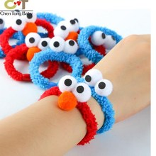 2018 Sesame Streetaimo ELMO plush toys beauty toy hair rope Accessories 3colors WJ01(China)