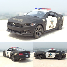 2017 Hot Sale Ford 2006 Mustang GT Police 1:38 Alloy Diecast Model Car Pull Back Vehicle Toy Collection For Boy Children Gift
