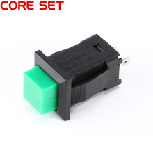 10Pcs/Set DS-429 Self-locking Round Switch Button 1A/250VAC Light Switch DIY Touch Switch green