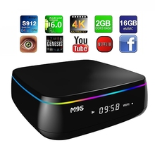 M9S MIX TV Box 2G 16G Amlogic S912 Octa Core Android 6.0 2.4G + 5G Dual Band WiFi Bluetooth 4.0 3D Media Player 4K Ultra HD