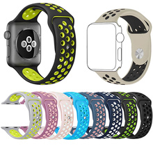 Breathable strap iwatch sports Silicone for Apple Watch 42mm 38mm Flexible  Bracelet Strap for Apple Watch Series Watch strap