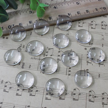6mm Thickness:3mm Round Flat Back Clear Glass Cabochon Dome Cameo Jewelry Finding 30pcs/lot (K02891)(China)