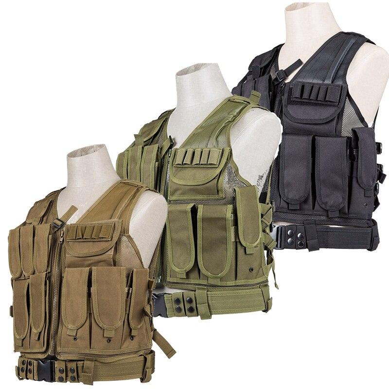 Tactical Molle VEST Airsoft Combat Pistol Vest Outdoor Hunting Training Men Waistcoat Protective Equipment<br>