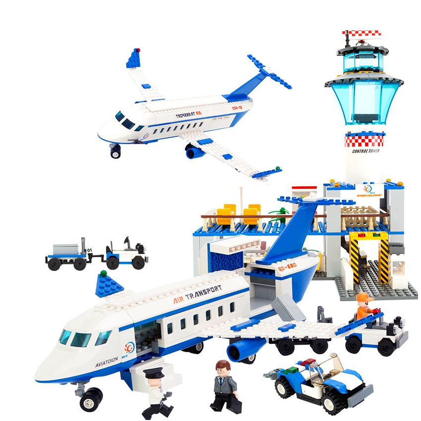 GUDI International Airport Action Block Aviation Series Building Model Bricks Kits Classic Creative DIY Toys For Children Gifts<br>