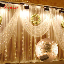 Waterproof 6M x 3M 600 200 300 LED Curtain Fairy String Lights Wedding Party Xmas Decor