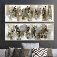 Moderne Abstrakte Malerei Leinwand Afrikanische Frau Bilder Für Wohnzimmer  Cuadros Wohnkultur Duvar Tablolar Wandkunst