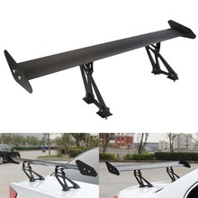 New Universal Car Hatchback Auto Adjustable Lightweight GT Rear Spoiler Wing Racing Black Free Shipping D10(China)