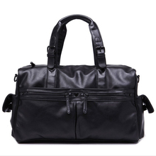 GearBAND 2015 Brand New Design Men PU Imitation Sheepskin Leather Handbag Microfiber Leather Bag Men Travel Casual Messenger Bag