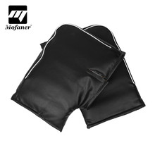 Mofaner Waterproof Motorbike Scooter Handlebar Gloves Quad Bike PU Leather Motorcycle Warm Hand Bar Gloves Mitts Winter Warmer(China)