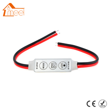 Dimmer LED Strip RGB Controller DC 12V 24V Mini Dimmer LED Single Color Controller for 5050 3528 5730 LED Strip Light(China)