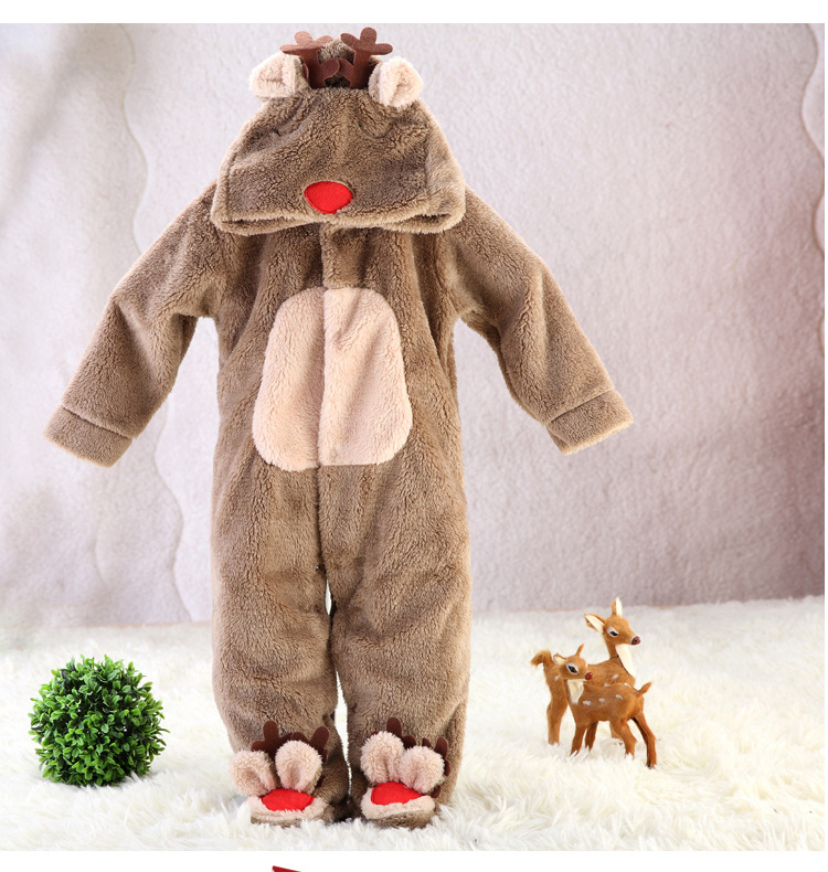 2015 new Autumn and Winter baby coveralls baby romper thick  velvet cotton bag carton foot climbing clothes<br><br>Aliexpress