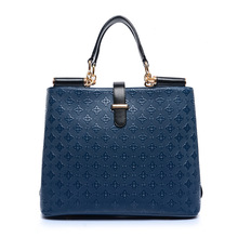 2017 New Women Famous Brands Fashion Frame Socialite PU Leather Handbag Party Wedding Bags Shoulder Messenger Bags Blue ST2864(China)