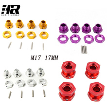 M17 17mm Aluminum Wheel Hex Hubs Adapter Nut Pin Anti-Dust Cover For 1/8 RC Model Car HPI HSP Traxxas Losi Axial Kyosho Tamiya(China)