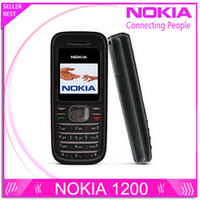 Refurbished Original NOKIA 1200 original unlocked gsm 900/1800 mobile phone with russian HEBREW polish language Free shipping(China)