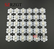 10pcs  3W RGB Color 6pin LED Chip LED Light Lamp Part With 20mm Star Base