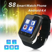 Android 4.4 Dual Core Smart Watch ZGPAX S8 Wristwatch Mobile Phones Smartwatch Supports GSM 3G WCDMA Bluetooth 4.0 Wifi Camera