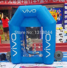 Outdoor 2.2MHigh inflatable money machine,Inflatable cash machine,Inflatable money booth for speed advertising