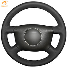 MEWANT Black Artificial Leather Car Steering Wheel Cover for Audi A6 2000-2004 Audi A3 2000-2003(China)