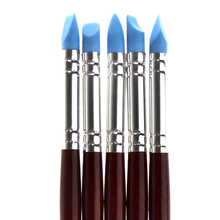 High Quality Nail Art Craft Pottery Clay Tools Carving Sculpture Sculpting Tools Cake Oils Engraving Rubber Pen Brush(China)