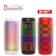 AEC BQ-615 PRO HIFI Stereo Bluetooth Speaker Colorful LED Light Flash Wireless 3.5mm Audio Portable Subwoofer NFC Microphone FM