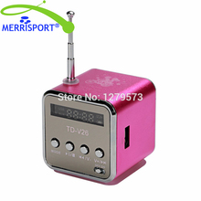 MERRISPORT Portable Mini Digital Speaker USB Flash Drive Micro SD/TF Card Music MP3 Player FM Radio For Iphone Samsung Tablet PC(China)