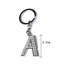 LNRRABC Fashion 26 Letters Keychain Women Crystal Rhinestone Alphabet Keyring Initial Letter Men Purse Bag Key Ring Jewelry