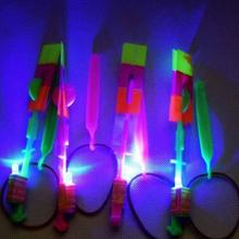 Beautiful Neon Led Light Amazing Elastic Powered LED Arrow Helicopter Shining Rocket Flash Copter Arrow Helicopter(China)