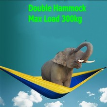 Double Person Portable Parachute Nylon Fabric Hammock Travel Camping Large Size For 2 Person(China)