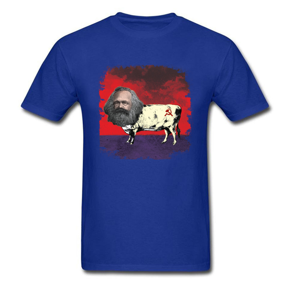 COW MARX - FATHER OF COWMUNISM_blue