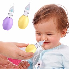 2016 New Born Baby Safety Nose Cleaner Vacuum Suction Nasal Aspirator Slicone Duct Type Nose Aspirator for Babies Kids Children(China)