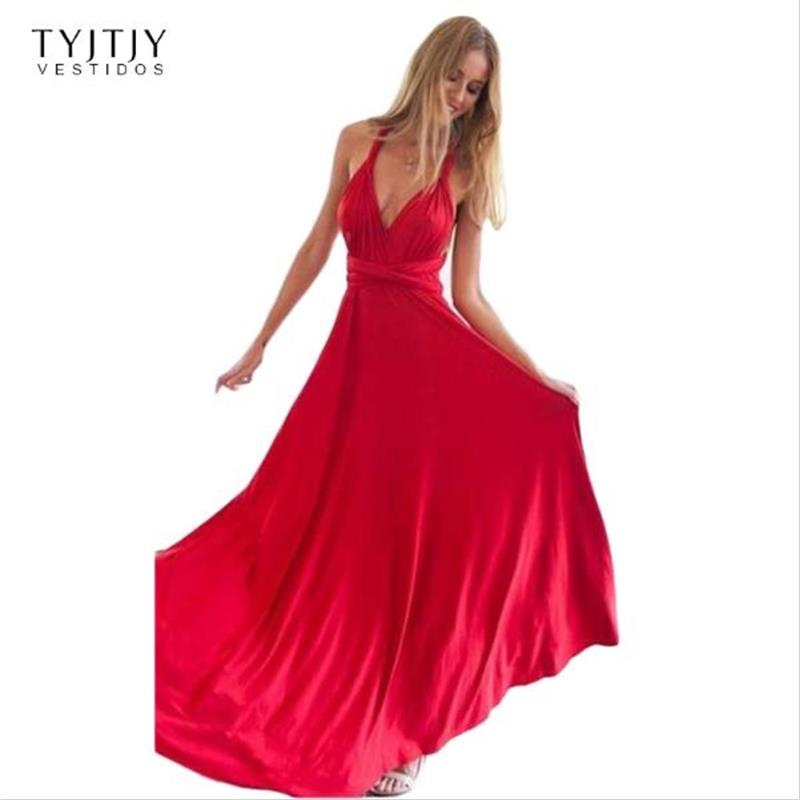Summer Sexy Dress Women Red Beach Long Bandage Multiway Convertible Dresses Infinity Wrap Robe Maxi Dress Wrap Vestidos 2017