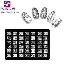 KADS Design D SIZE XL Nail Stamping Plates Stainless Steel Image Konad Stamping Nail Art Manicure Template Nail Stamp Tools