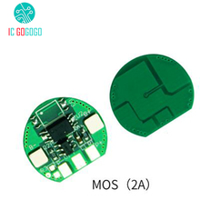 5pcs Single MOS 2A 18650 Battery Protection Board 3.7V Lithium Polymer High Current Charge Discharge Protect Circuit BMS/PCM/PCB