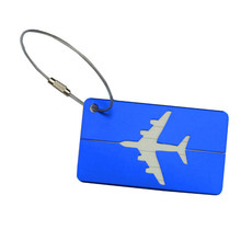 Hot Sale Airplane Shape Square Luggage Tag Luggage Checked Boarding Elevators travel accessories luggage tag for girls /boys(China)