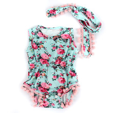 Baby clothing set baby girls vintage floral romper toddler girl rompers onesie baby jumpsuit toddler girl romper(China)