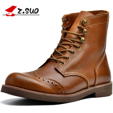 Bota Masculina Cowboy Boots For Men Work Shoes Winter Genuine Leather Boots Vintage Western Botas 2017 Winter Male Army Boots