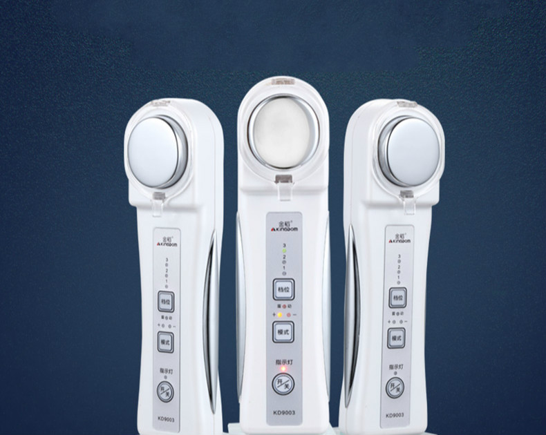 Facial Massage Instrument Beauty Import and Export Equipment Household White Ultrasonic Vibration Facial Whitening Instrument<br>