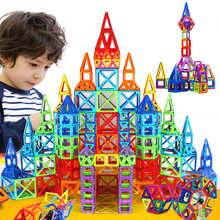 Building Toy Plastic Magnetic Blocks 164pcs-64pcs Mini Magnetic Designer Construction Set Model Educational Toys For Kids Gift(China)
