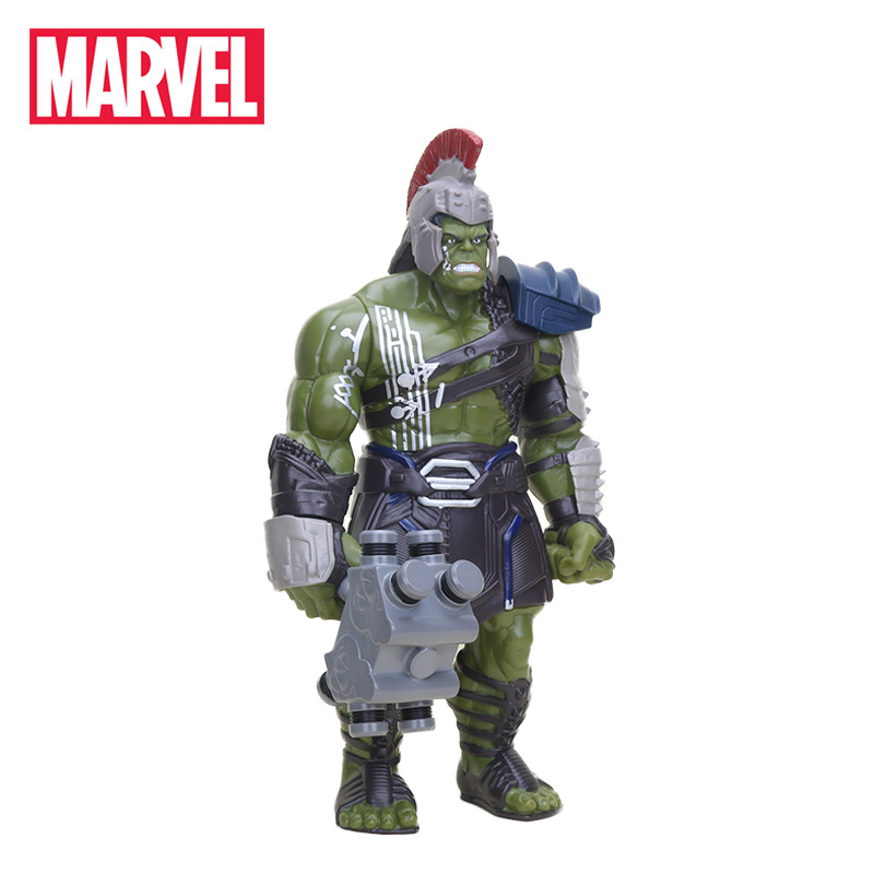 Electronic 42cm The Avenger Figure Movable Thor 3 Ragnarok PVC Action Figures War Hammer Battle Axe Gladiator Hulk Model Toys<br>