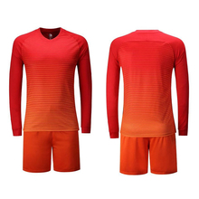 Long Sleeve Soccer Jersey Sets Men Women Football Sports Suit Competition Team Uniforms Training Suit Running Shirt Shorts Kit(China)
