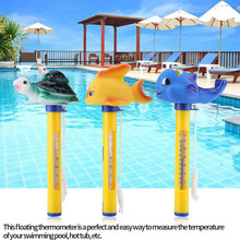Swimming Thermometer Cartoon Spas Floating Thermometer Outdoor & Indoor Swimming Pools Thermometer Goldfish/Blue Whale/Turtle