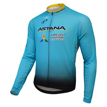 Pro cycling teams men ASTANA jersey cycling Racing Bike long sleeve jersey 2017 Mountain Quick-Dry cycling clothes