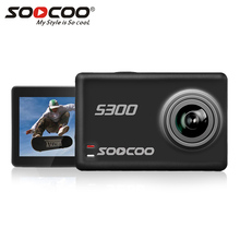"SOOCOO S300 Action Camera 2.35"" touch lcd Hi3559V100 + IMX377 4K 30fps EIS Wifi 12MP CMOS remote external mic sport cam(China)"