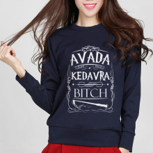 hot sale Avada Kedavra Bitch sweatshirt women 2016 autumn fashion cotton hip hop slim lady hipster funny hoodies european style