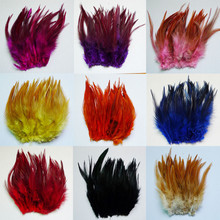 50 root sell 10-15cm 4-6 inch rooster neck feather DIY Christmas day decorate feather(China)