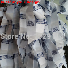 Custom your design Garment neck size label Flag labels 36-96 inch woven tags XXS-XXXXXL MZ-2168(China)