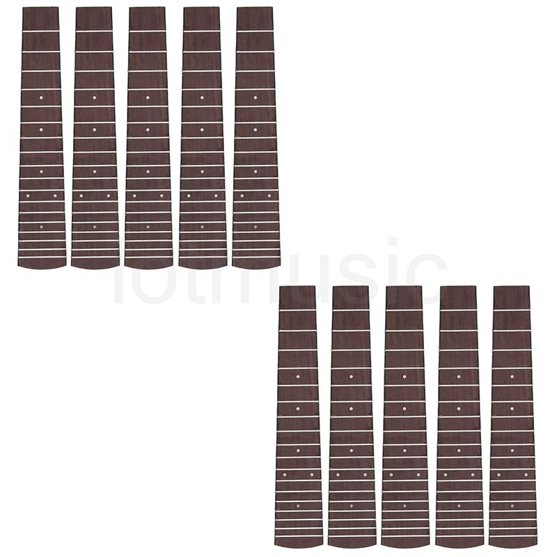 Concert Ukulele Fretboard 23 Inch Ukelele Hawaii Guitar Fingerboard Fretted 18 Frets Rosewood Pack of 10<br>